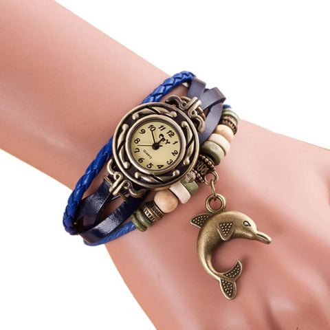 Graceful Dolphin Bracelet and Watch