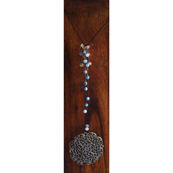 Clear Quartz and Blue Kyanite Door Hanger - Gifting a Gift of Peace