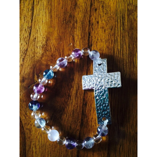 Fluorite Cross Bracelet - Gifting a Gift of Peace