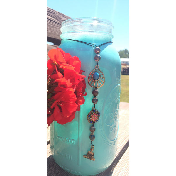 Blue Crazy Lace Agate Buddha Door Hanger - Gifting a Gift of Peace