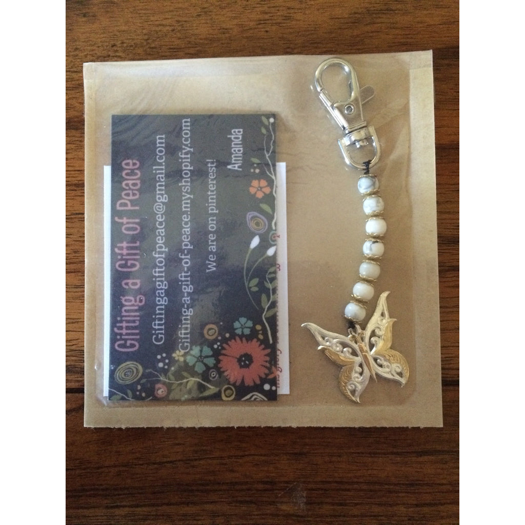 Butterfly Key Chain - Gifting a Gift of Peace