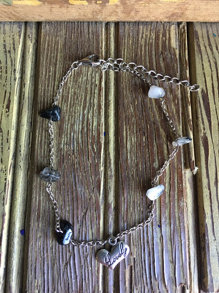 Tourmalinated Quartz Lovely Anklet