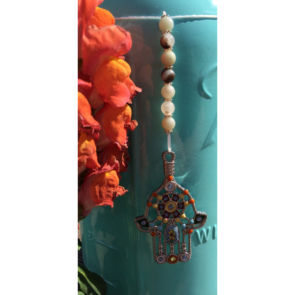 Amazonite Hamsa Car/Door Hanger - Gifting a Gift of Peace
