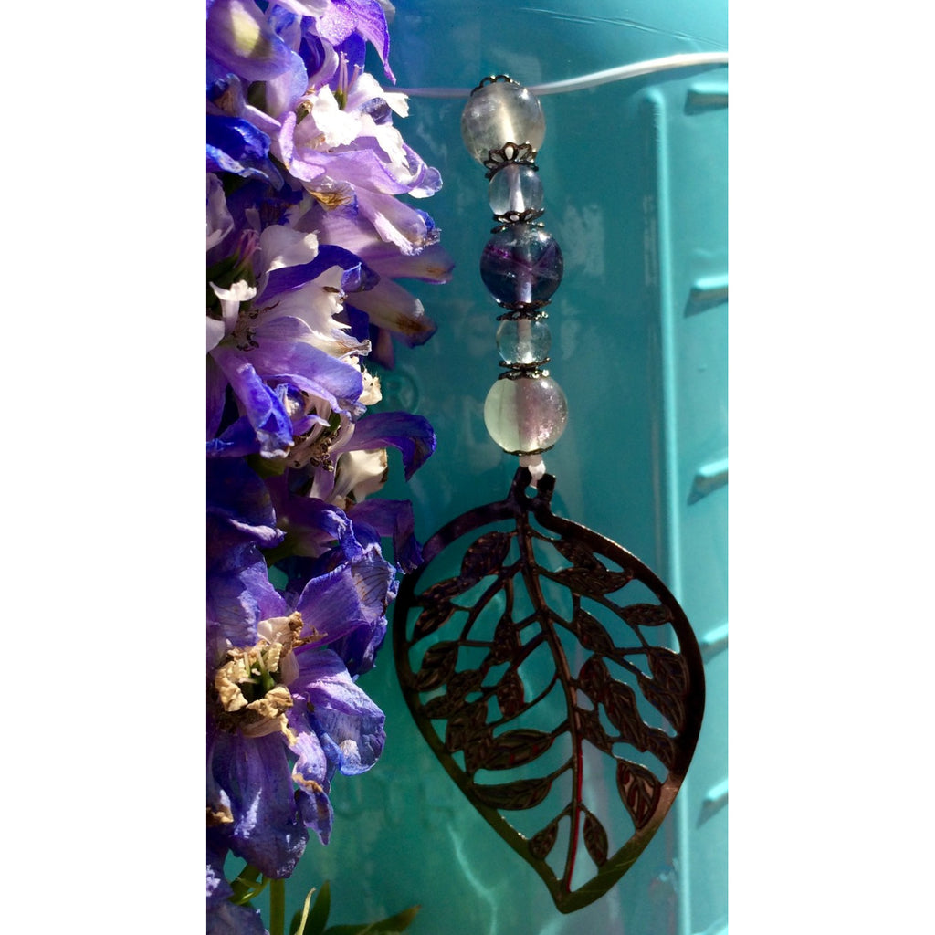 Fluorite Leaf Car/Door Hanger - Gifting a Gift of Peace