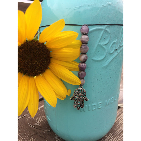 Amethyst Hamsa Car/ Door Hanger - Gifting a Gift of Peace
