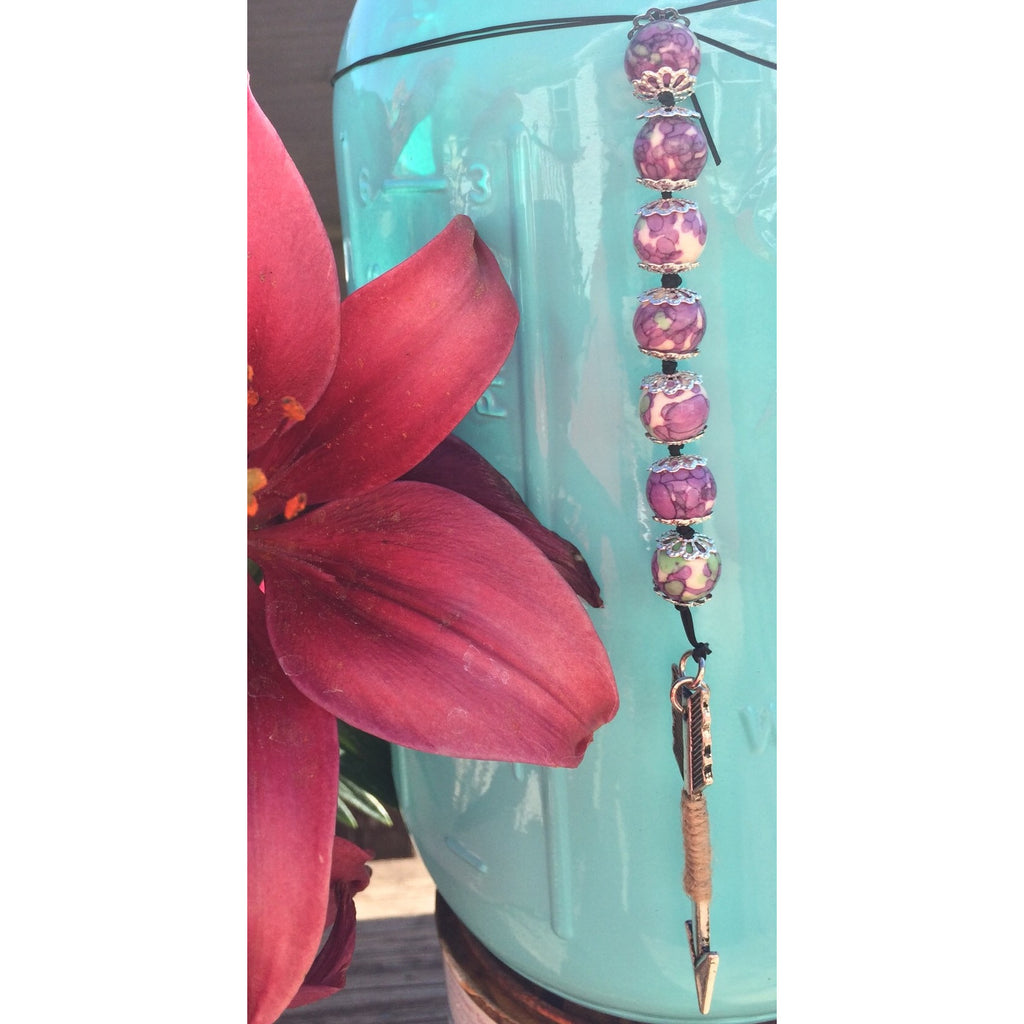 Sugilite arrow car/door hanger - Gifting a Gift of Peace