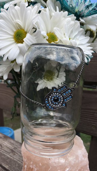 Blue Diamond Hamsa Anklet - Gifting a Gift of Peace