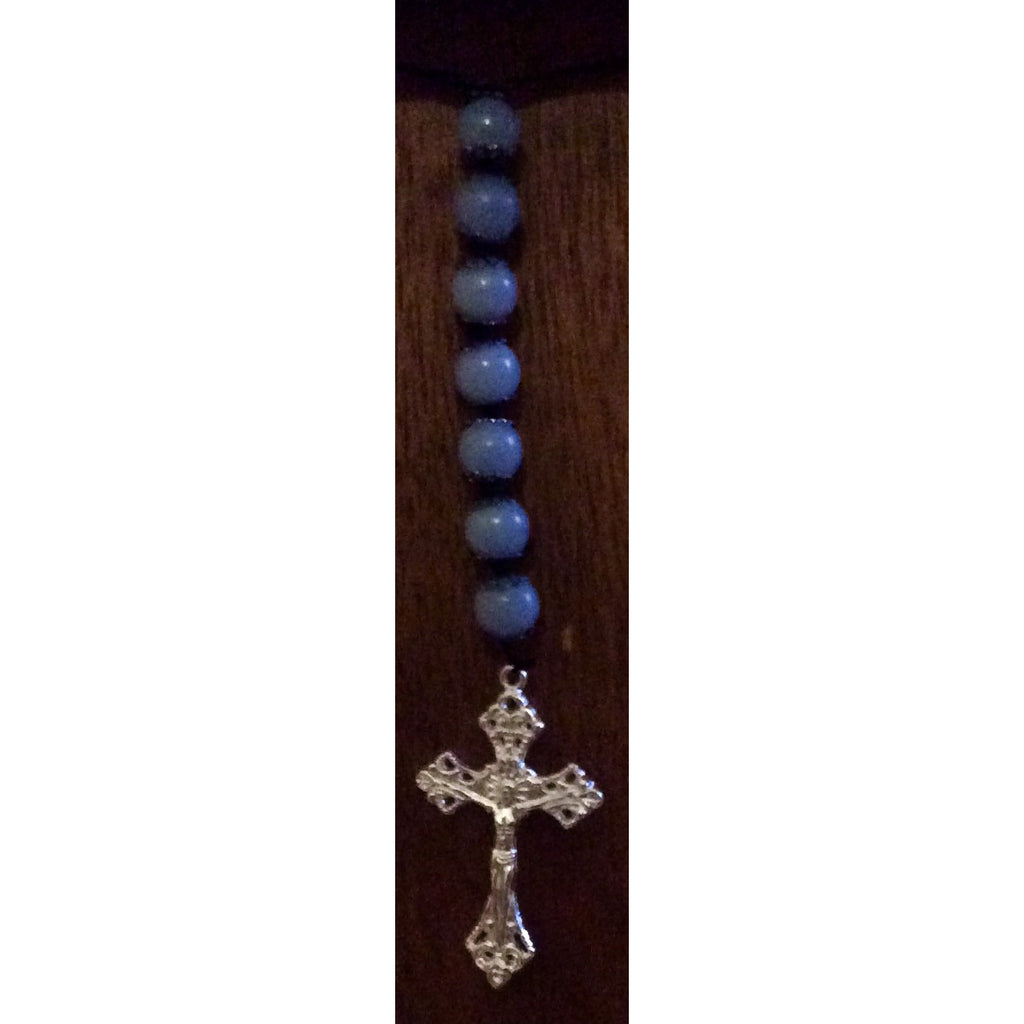 Angelite Crucifix Door Hanger - Gifting a Gift of Peace