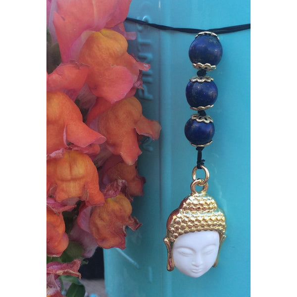 Lapis Lazuli Buddha Car/Door Hanger - Gifting a Gift of Peace