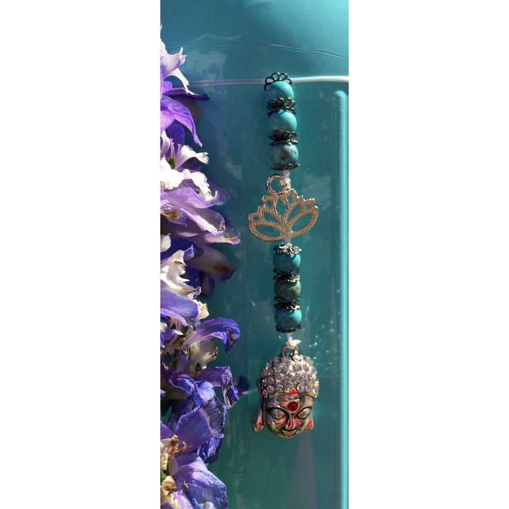howlite lotus buddha car/door hanger - Gifting a Gift of Peace
