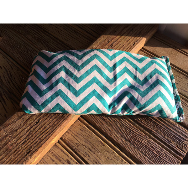 Extra Small Teal Chevron Rice Bag - Gifting a Gift of Peace