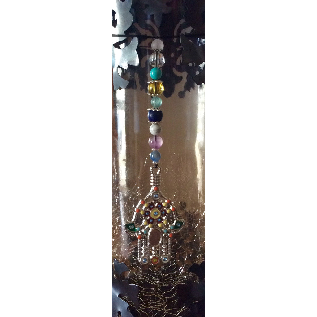 Multiple Crystal Hamsa Door Hanger - Gifting a Gift of Peace