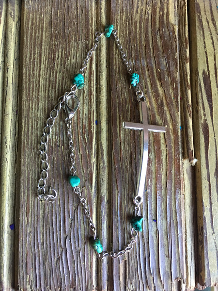 Turquoise Nugget ankle bracelet