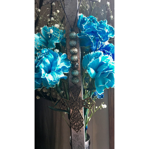 Amazonite Cross Door Hanger - Gifting a Gift of Peace