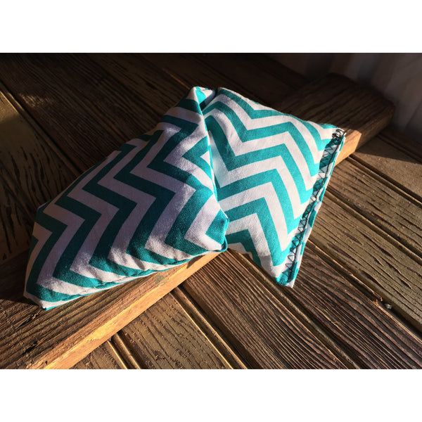Extra Small Teal Chevron Rice Bag