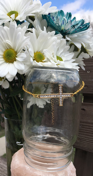 Diamond Cross Gold anklet - Gifting a Gift of Peace