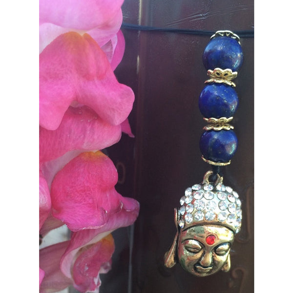 Lapis Lazuli Buddha Car Mirror or Door Hanger - Gifting a Gift of Peace