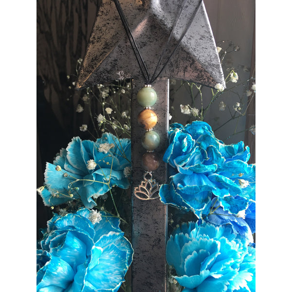 Amazonite Lotus Door Hanger - Gifting a Gift of Peace