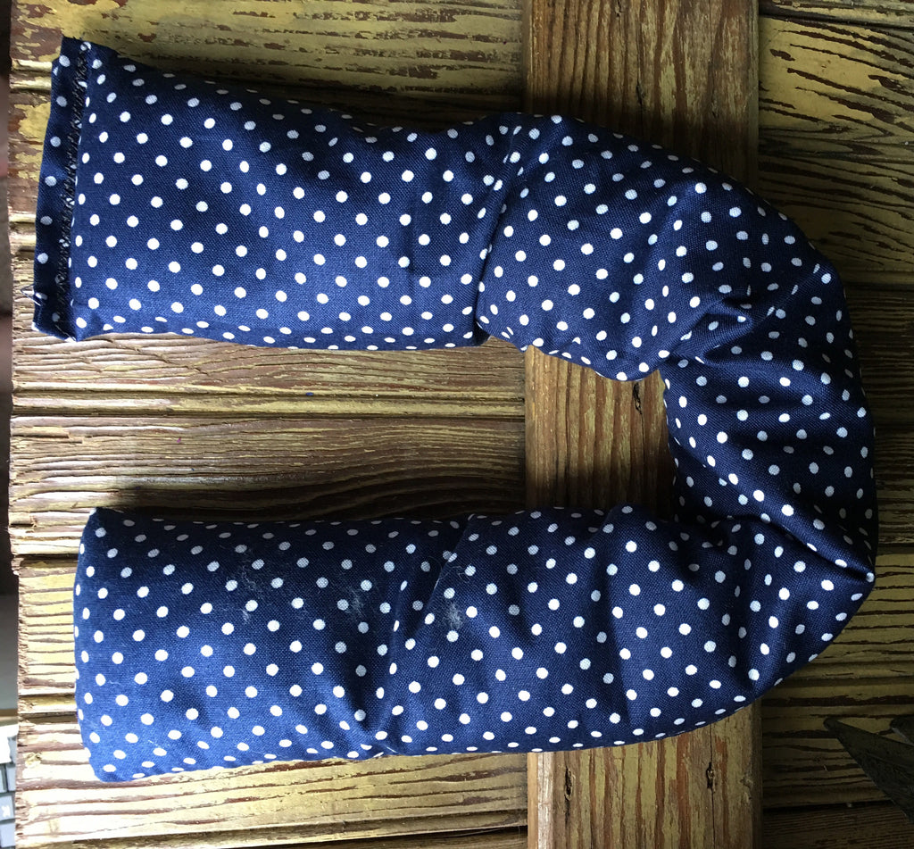 Extra Skinny Navy Blue Polka Dots - Gifting a Gift of Peace