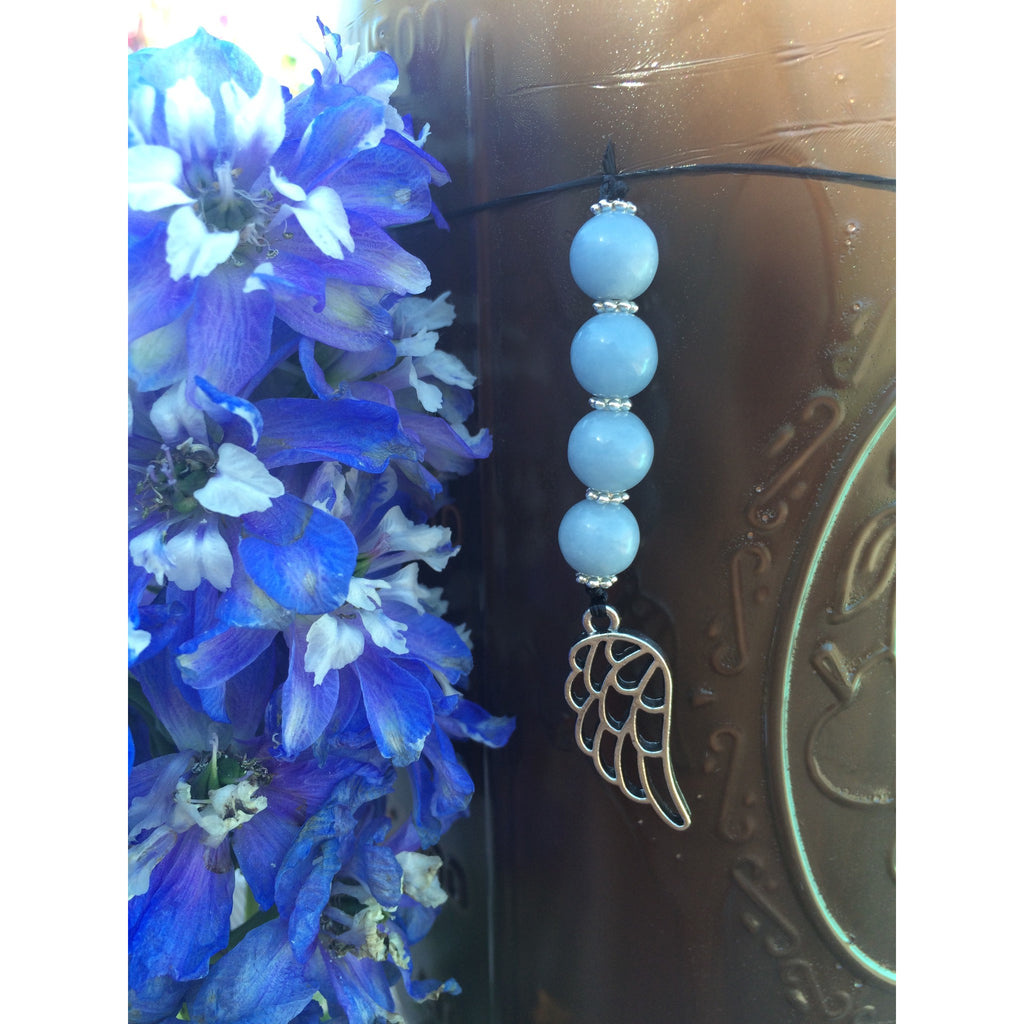Angelite Car/ Door Hanger - Gifting a Gift of Peace