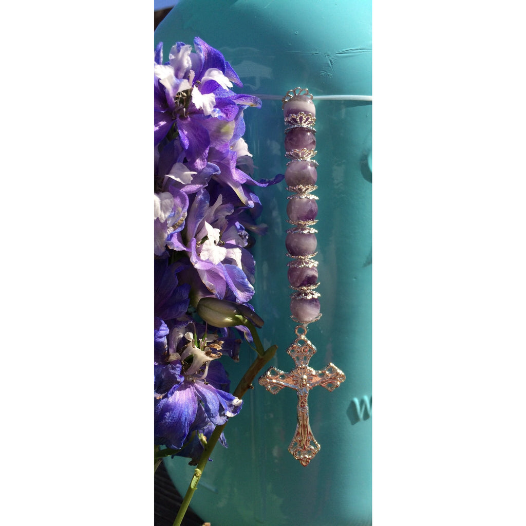 Amethyst Crucifix Car/Door Hanger - Gifting a Gift of Peace