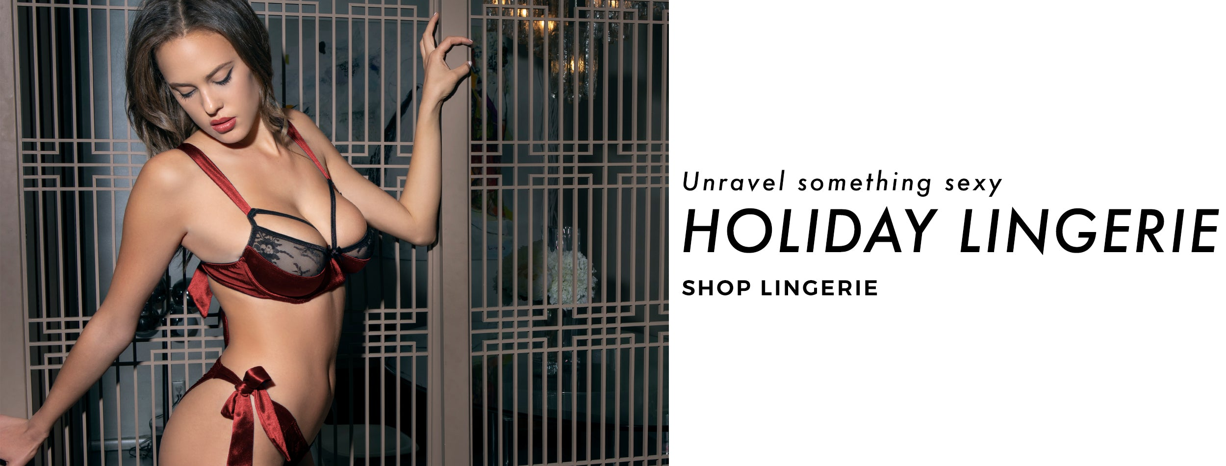 shop sexy holiday lingerie at Hustler Hollywood
