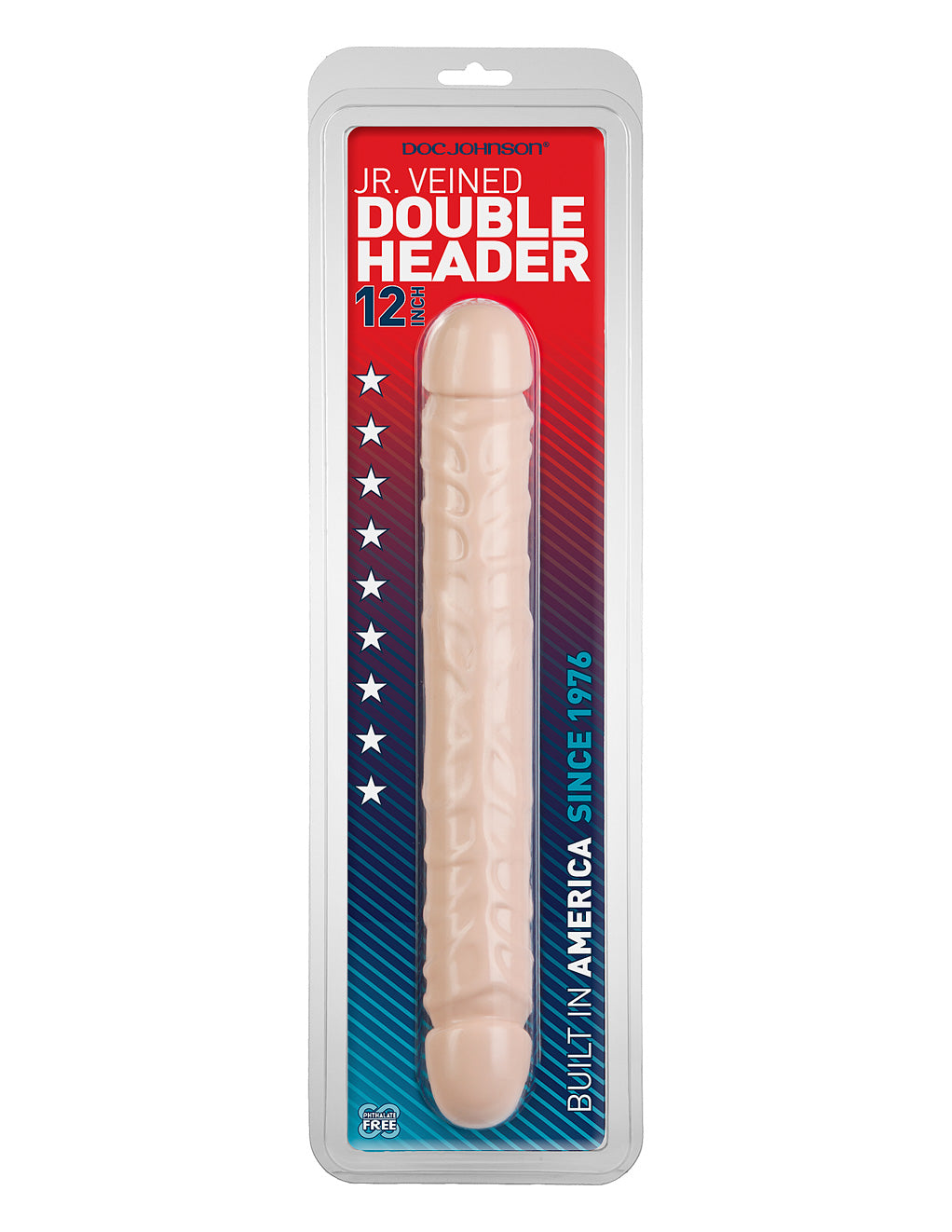 Doc Johnson Jr Veined Double Header 12 White