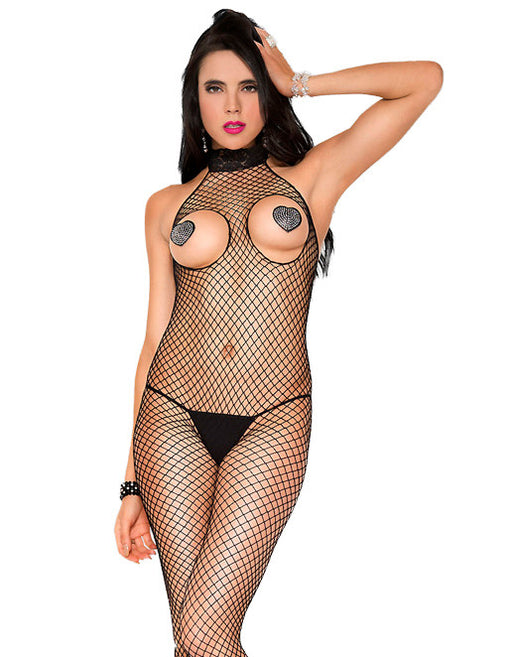 Hustler Lingerie Peekaboo Mini Diamond Lace Turtleneck Bodystocking - Lingerie - Bodystockings - Featured Image