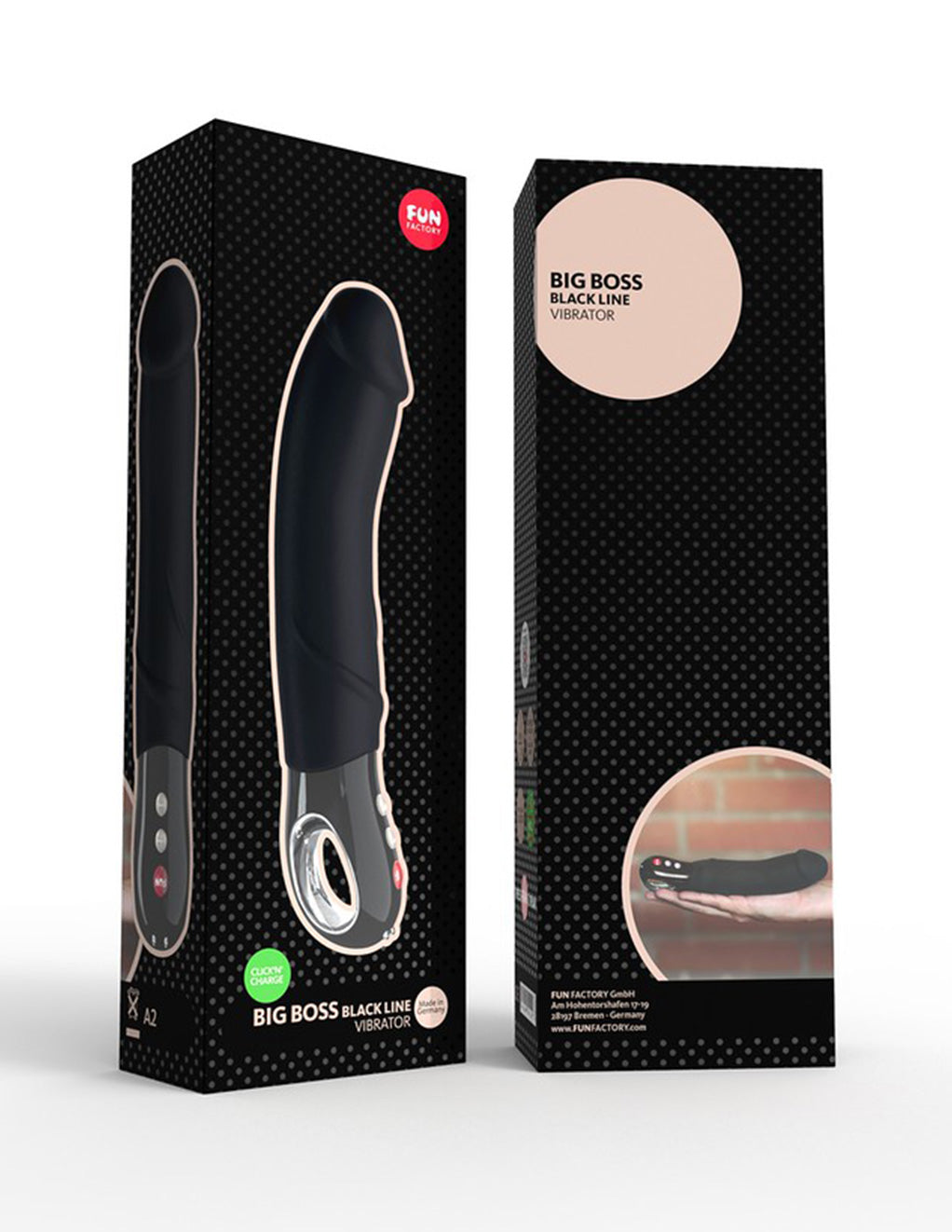 Fun Factory Big Boss Dildo Black Edition - Novelties - Massager