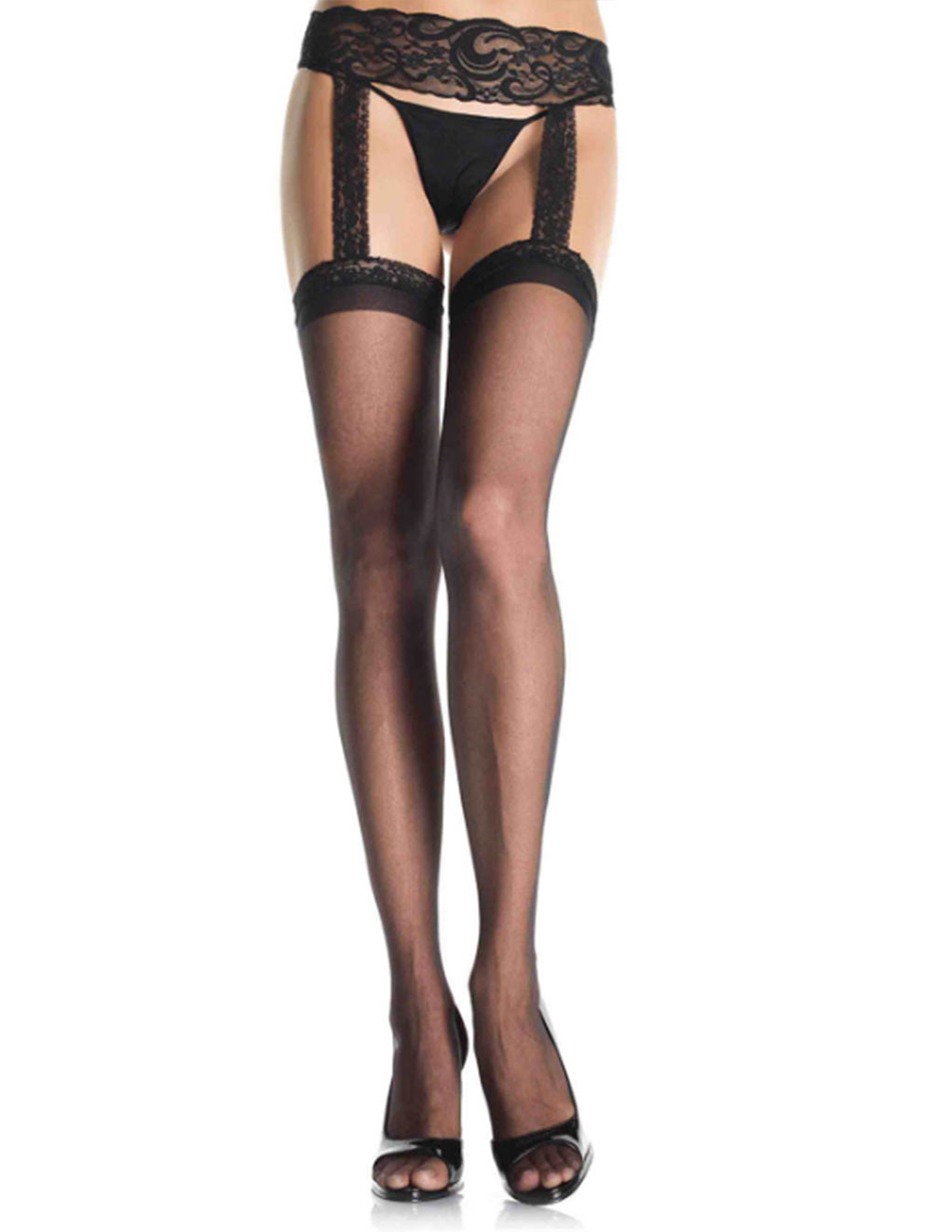 Leg Avenue Sheer Garter Belt Stocking