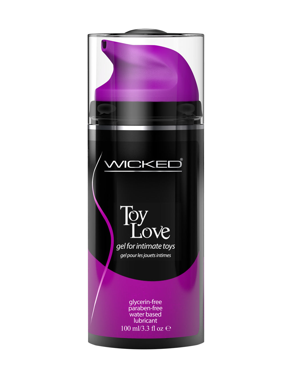 Wicked Toy Love gel lubricant 3.3OZ Front