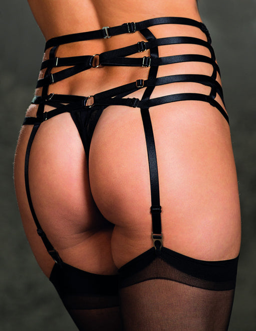 Venice Strappy Elastic Garter Belt- Back close up - Featured Image