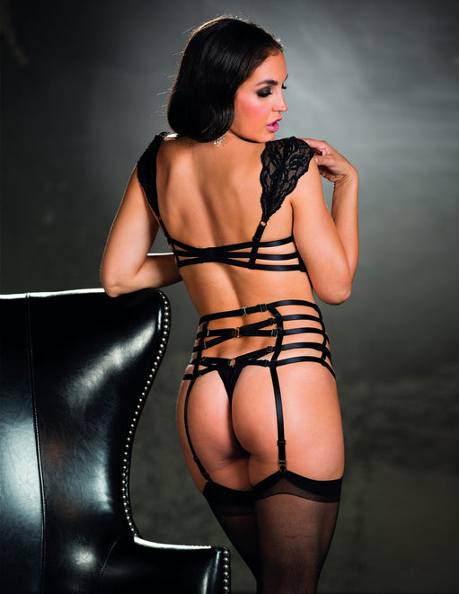 Venice Strappy Elastic Garter Belt- Back - Featured Image