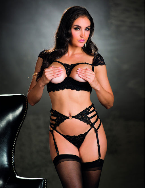 Venice Strappy Elastic Garter Belt- Front - Featured Image