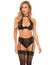 Oh La La Cheri Amata High Neck Bra with High Waist Panty- Black- Front