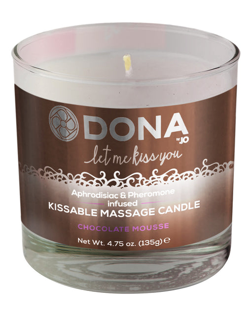 Dona by Jo Aphrodisiac & Pheromone Infused Kissable Soy Massage Candle Chocolate 4.75oz