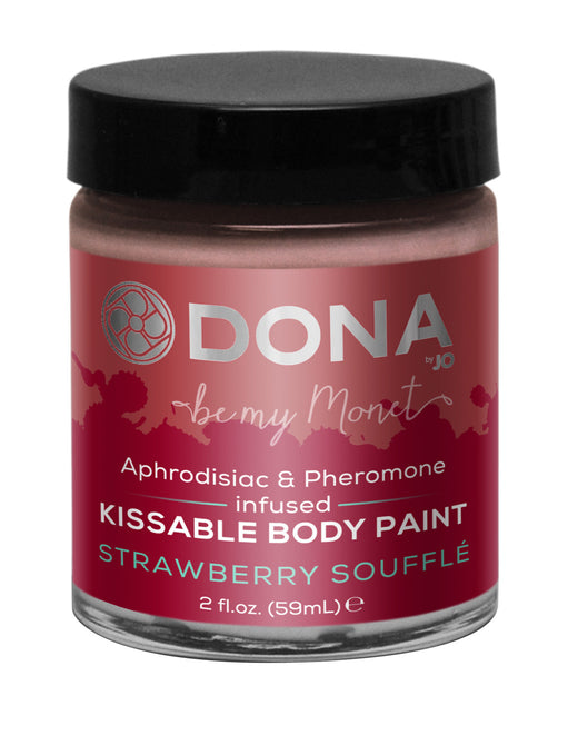 Dona by Jo Aphrodisiac & Pheromone Infused Kissable Body Paint Strawberry 2oz