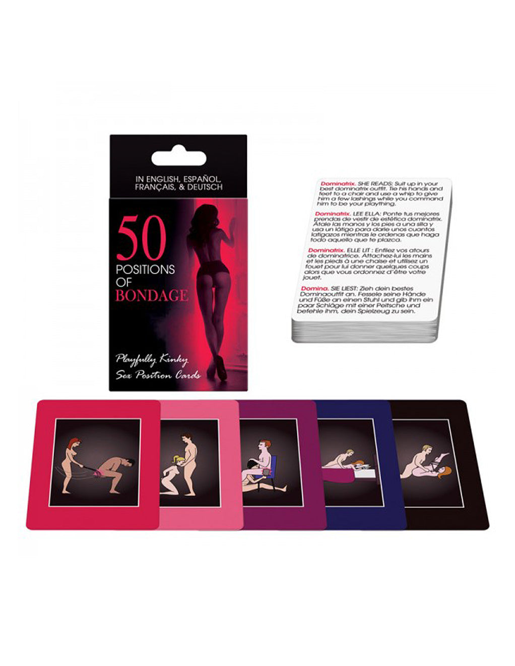 Kheper Games 50 Positions Bondage Card Game Cards And Box