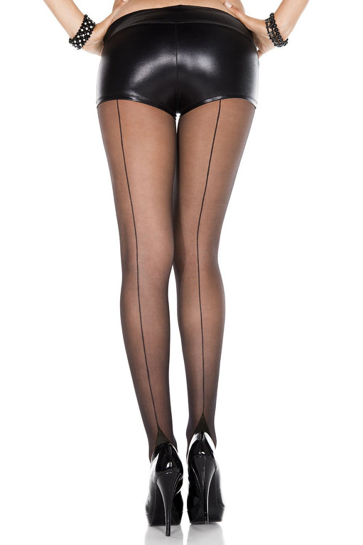 Music Legs Pantyhose with Cuban Heel Black   - Featured Image