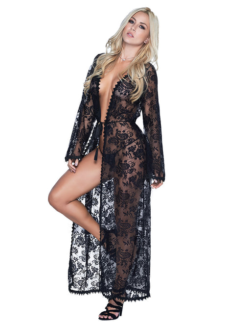 Mapale Long Lace Robe - Lingerie - Robes/Gown - Featured Image