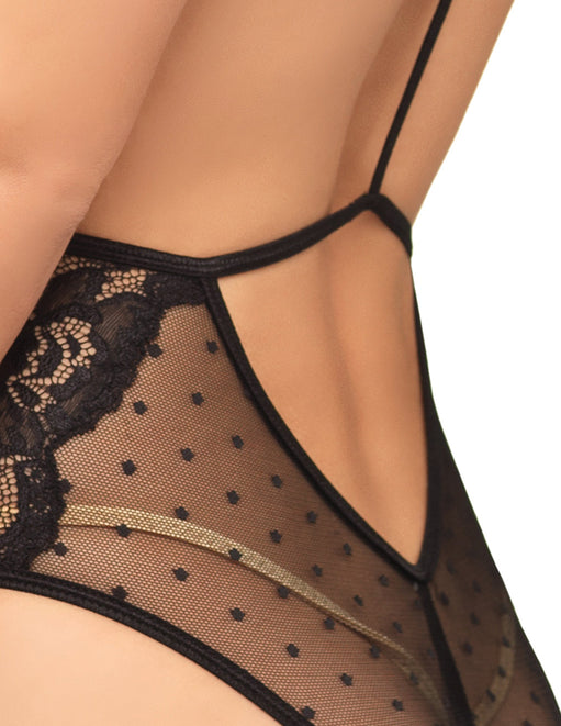 Leg Avenue Swiss Dot Sheer Lace Teddy - Lingerie - Teddys