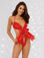 Dreamgirl Satin Bow Teddy- Front