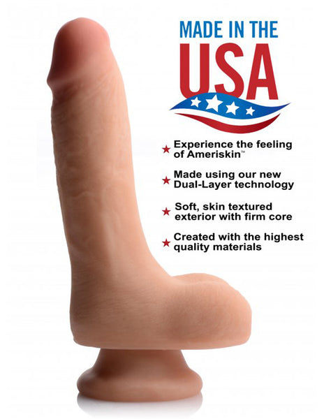USA Cocks 7 Inch Ultra Real Dual Layer Dildo