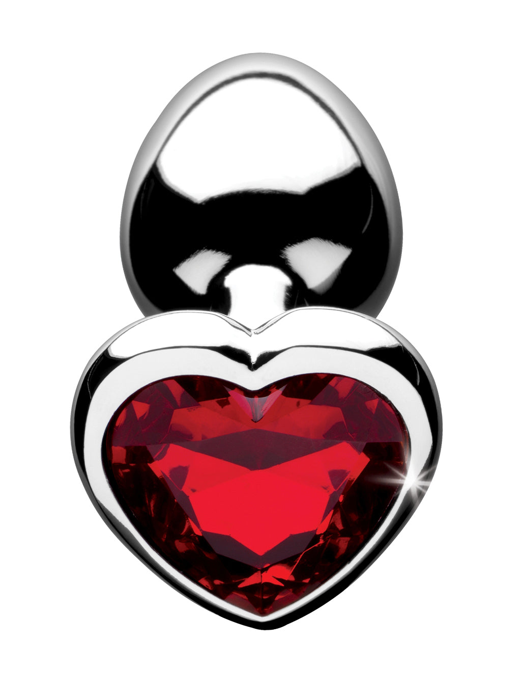 Booty Sparks Red Heart Gem Anal Plug- Small- Top
