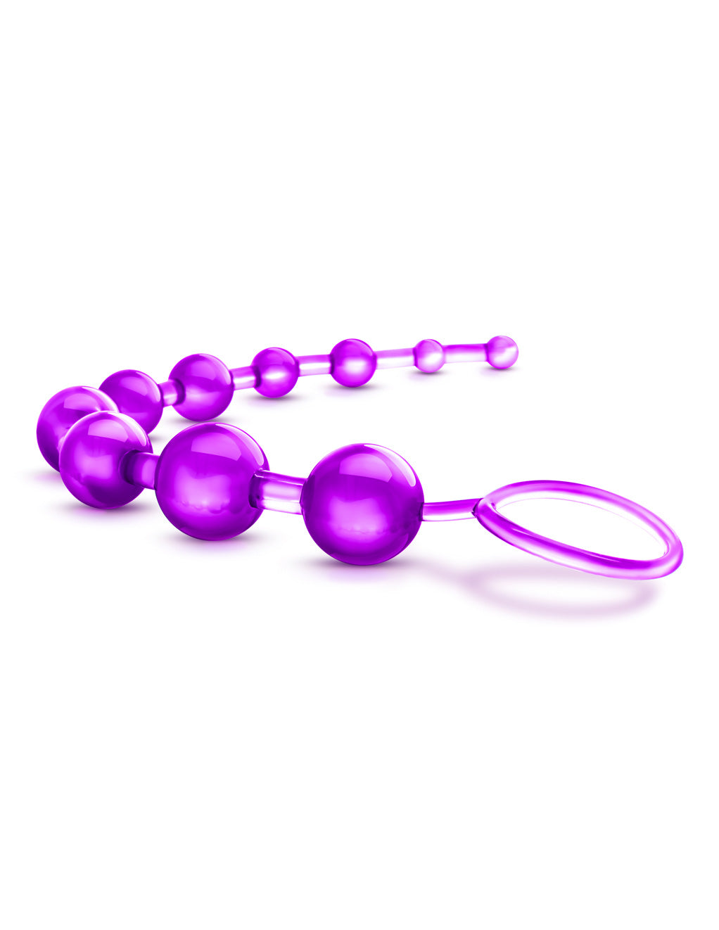 B Yours Basic Anal Beads- Purple- Side