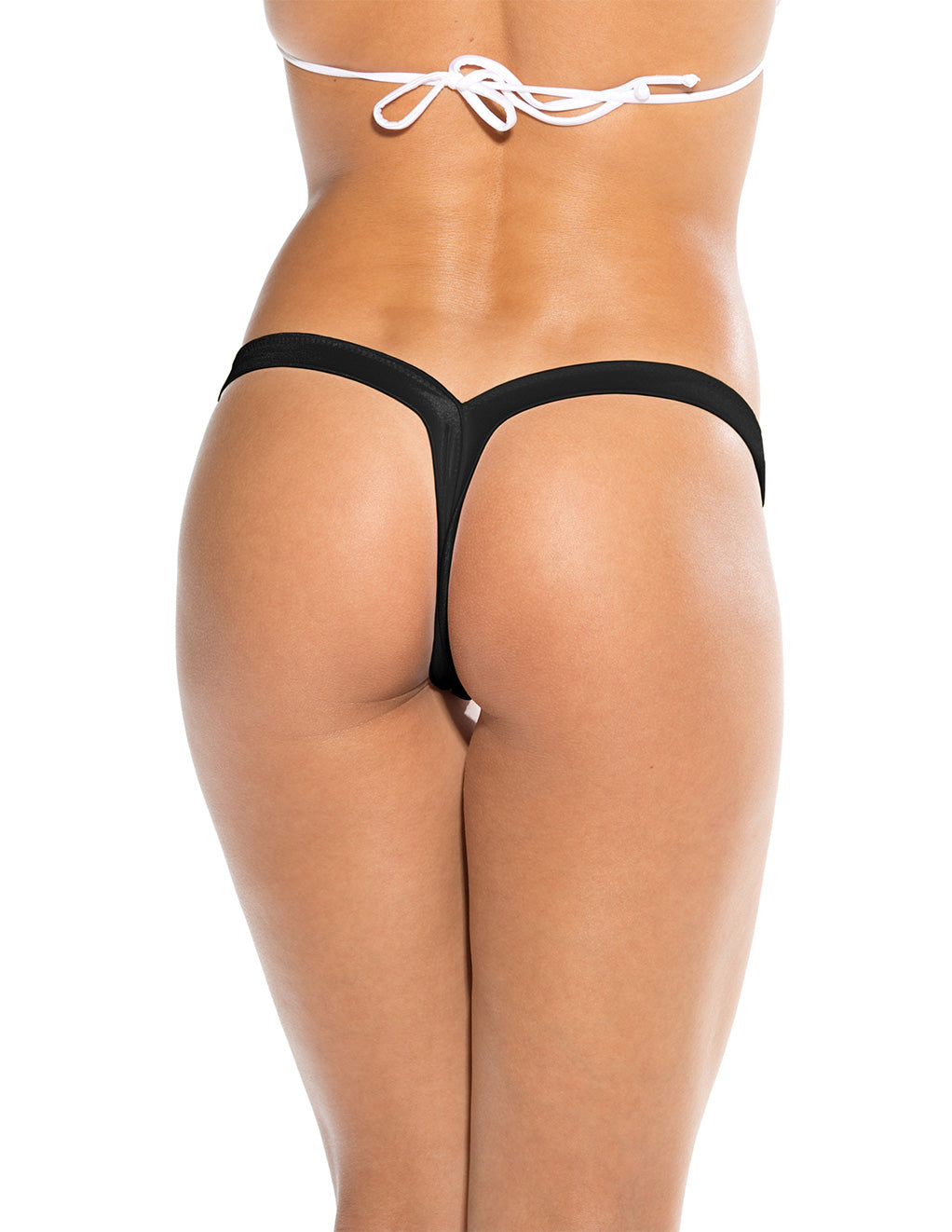Bodyshotz V Back Thong Black Back