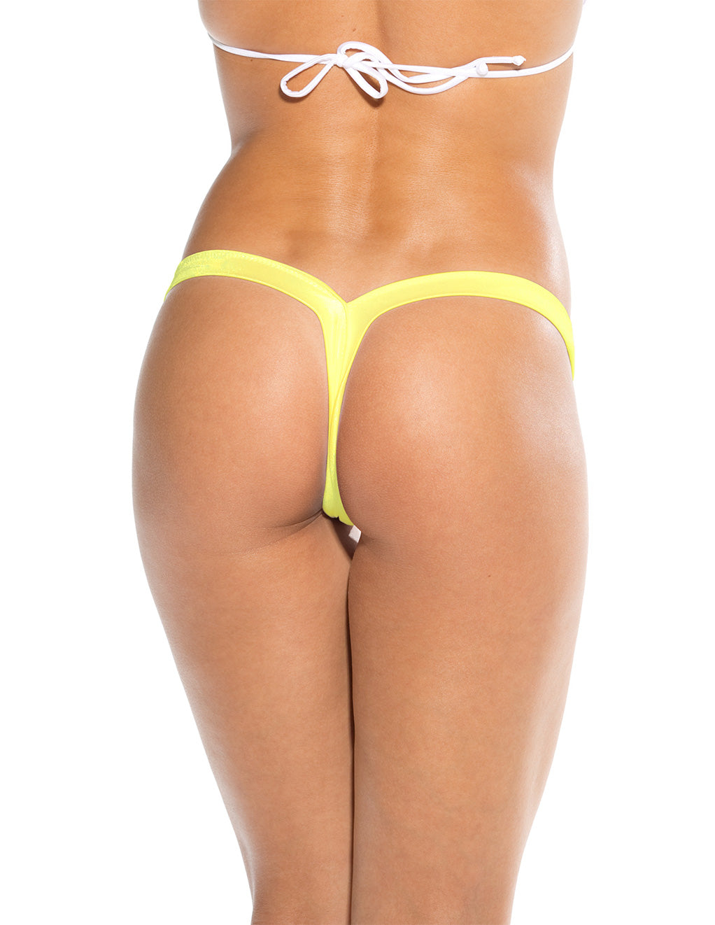 Bodyshotz V Back Thong Neon Yellow Back