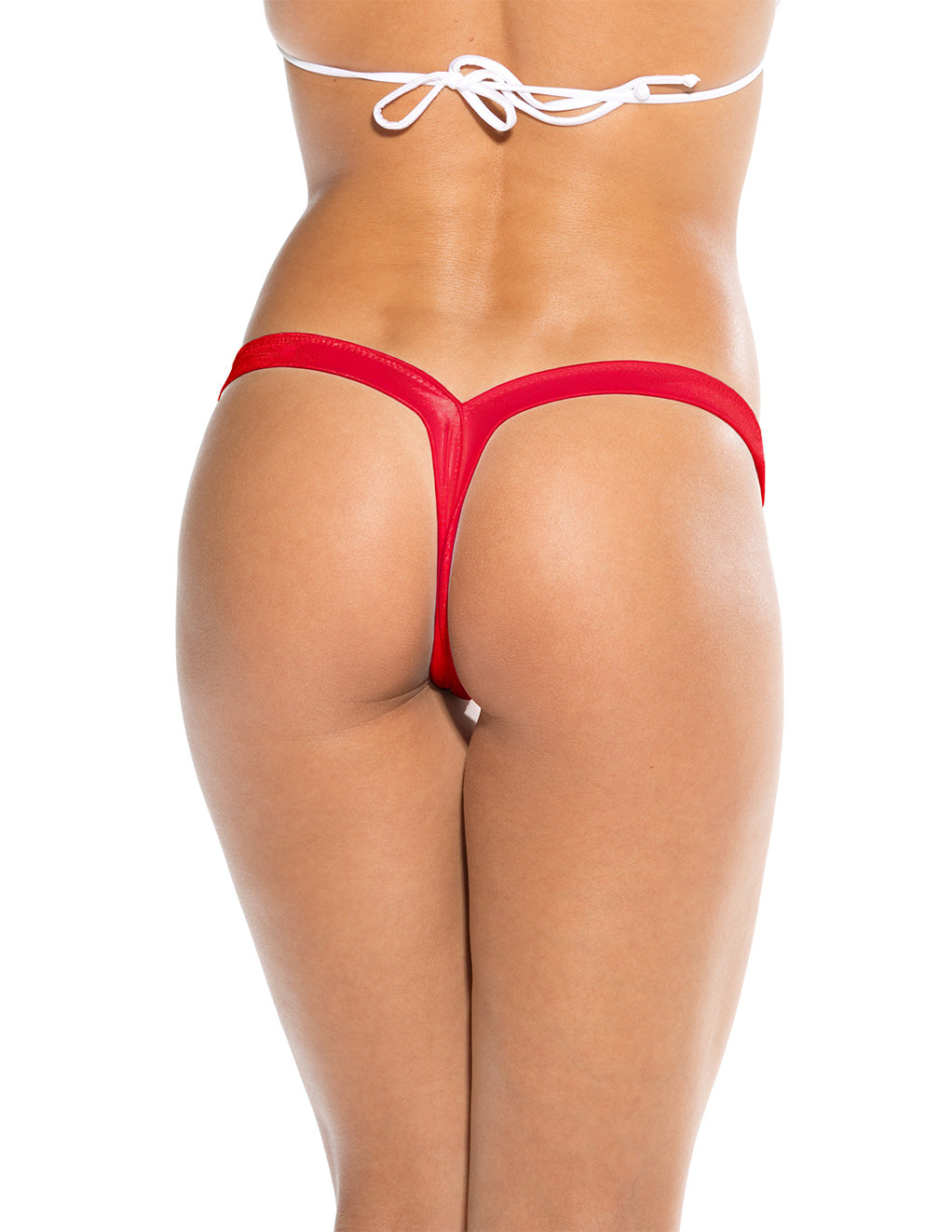 Bodyshotz V Back Thong Red Back