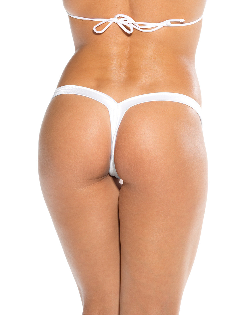 Bodyshotz V Back Thong White Back
