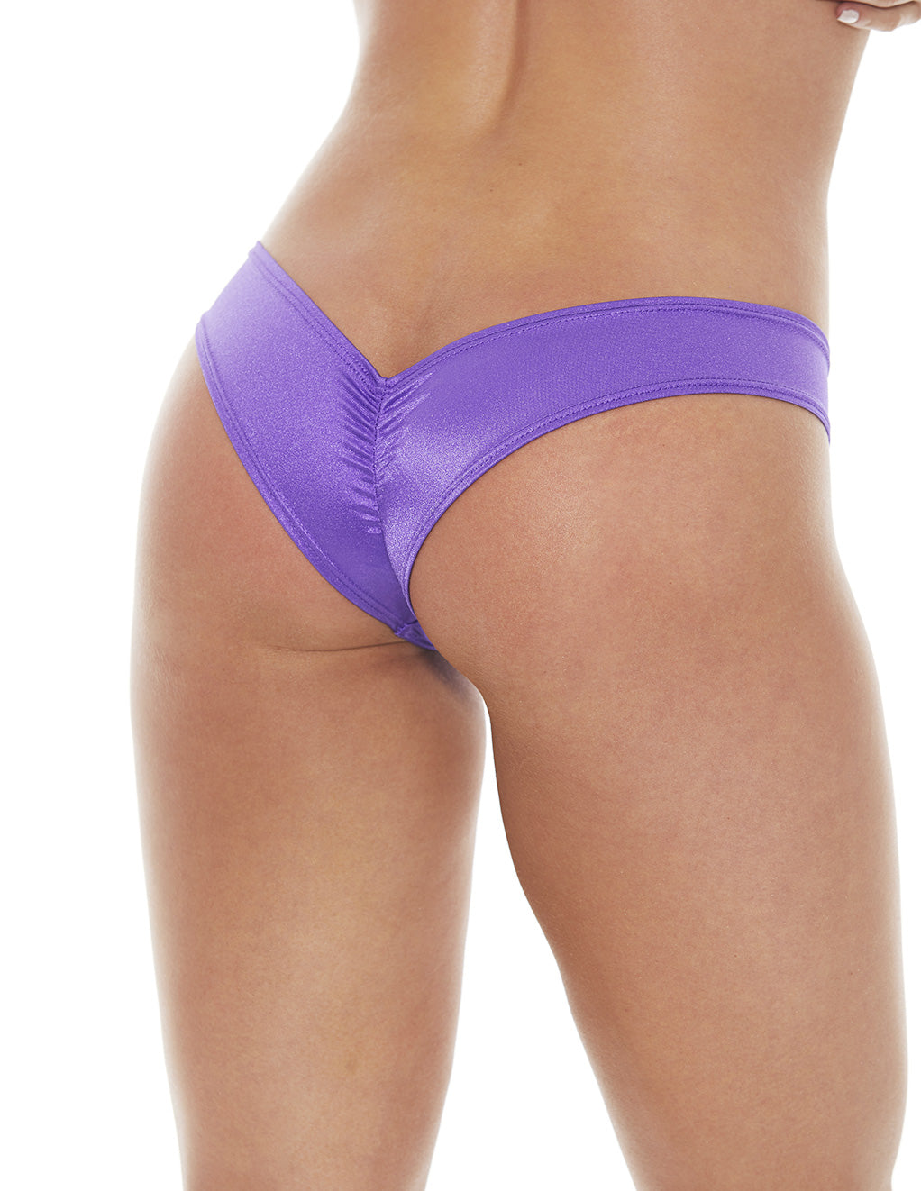 Bodyshotz Scrunch Back Boyshort Purple back